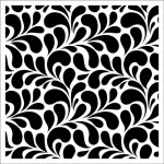 Stencil Petals pattern 15,2*15,2cm thickness 0,31mm